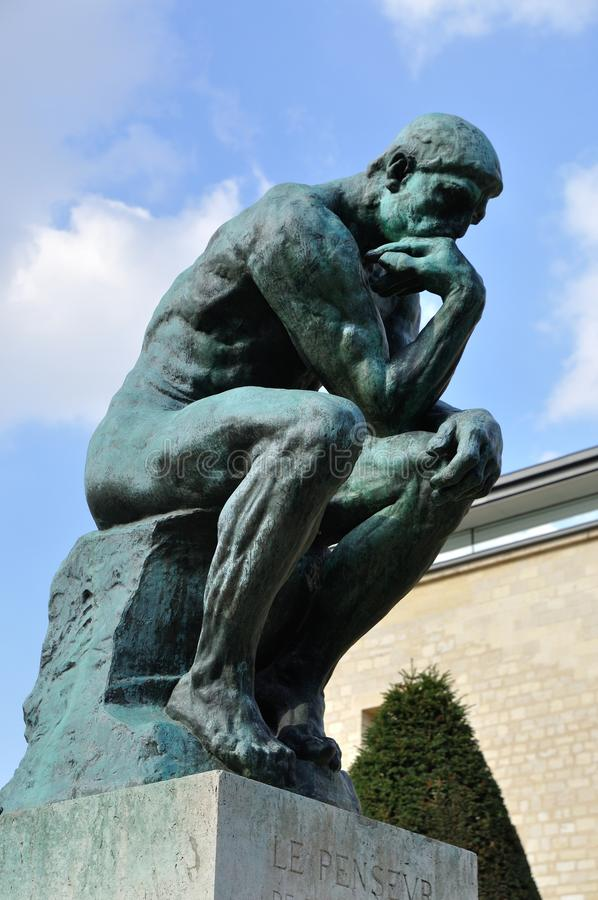 The Thinker of Rodin royalty free stock photography