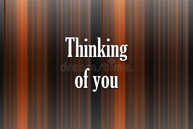 Thinkibg de vous - carte Fond abstrait de gradient des lignes multicolores illustration de vecteur