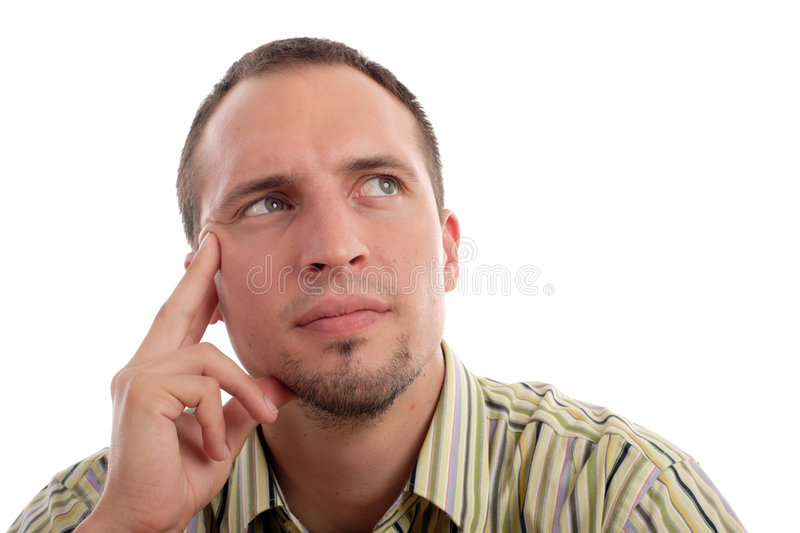 Download Thinking stock image. Image of face, severe, looking, stripes - 1072197