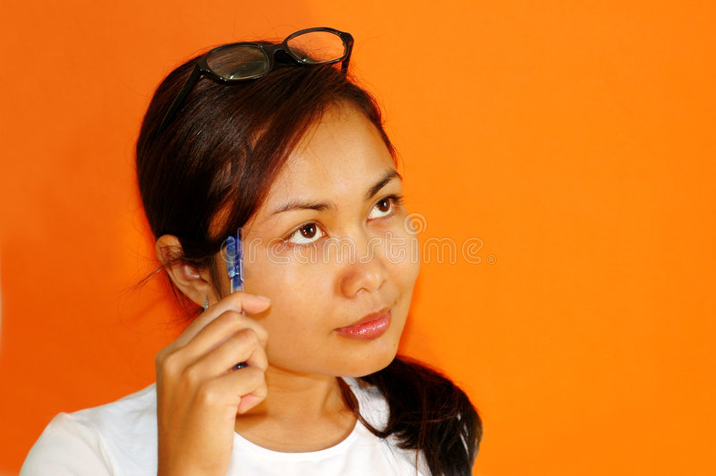 Download Thinking stock photo. Image of school, asian, think, thinking - 114442