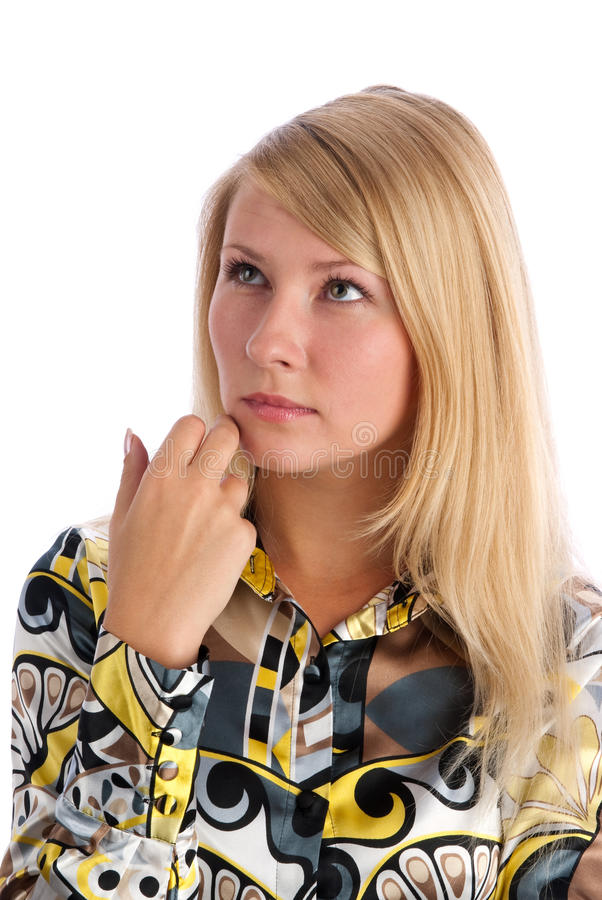 Download Thinking stock image. Image of glance, contemplation - 11469117