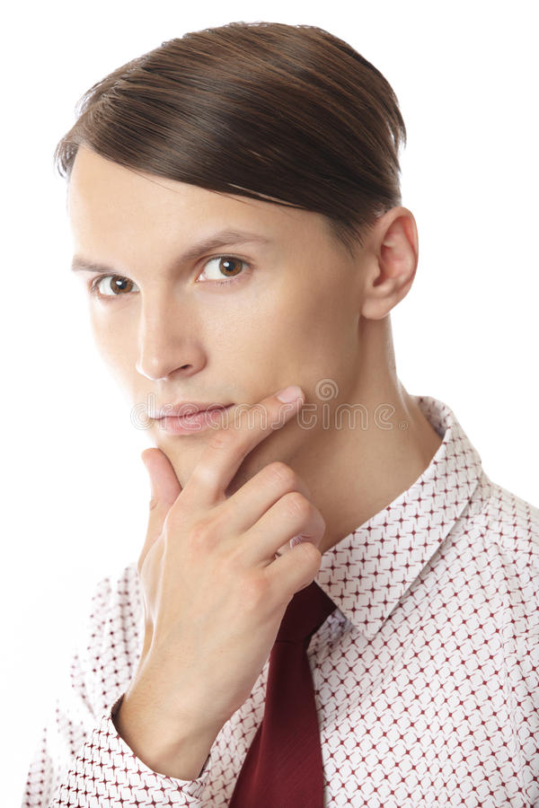 Download Thinking stock image. Image of business, clerk, male - 20198741