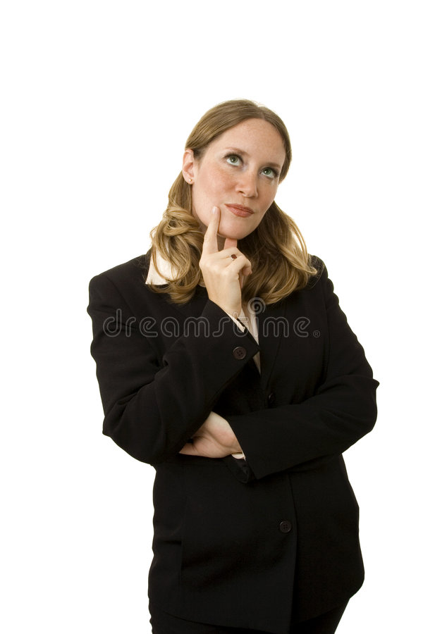 Download Thinking stock image. Image of smart, pointing, concentration - 2537863