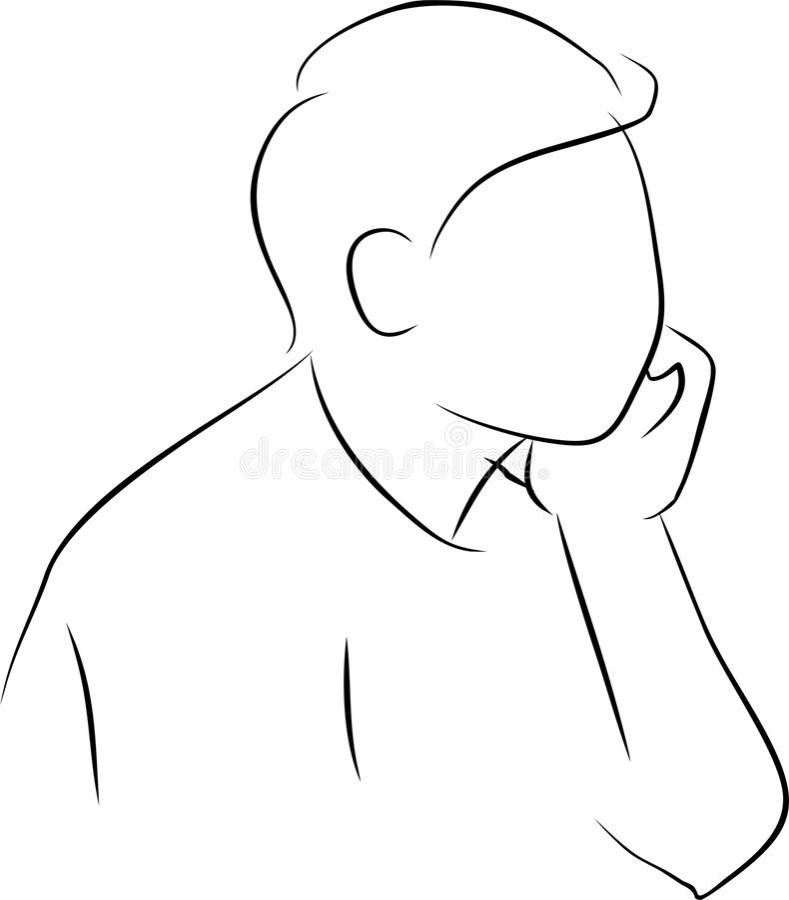 Download Thinking stock illustration. Image of thinking, male - 25948921