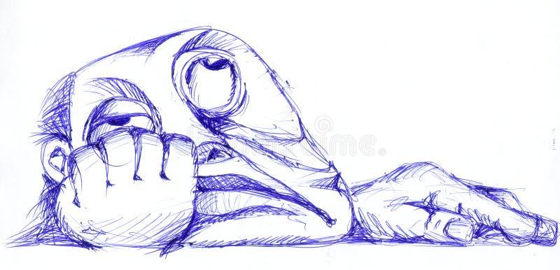 Download Dreaming stock illustration. Illustration of ennui, think - 26861147