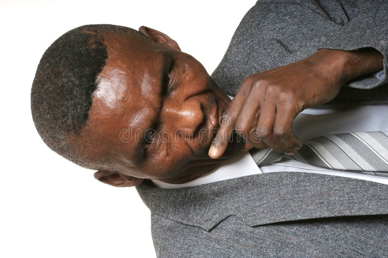 Thinking African Business Man stock photo