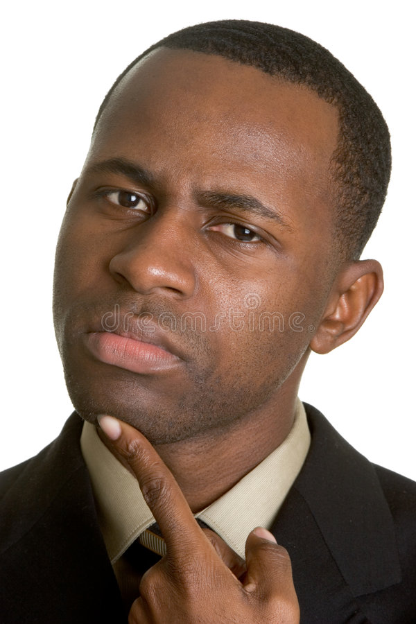 Thinking Black Man stock image