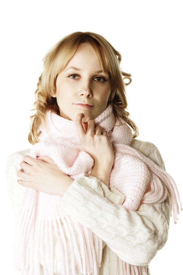 Download Thinking blonde stock photo. Image of white, warm, female - 10414132