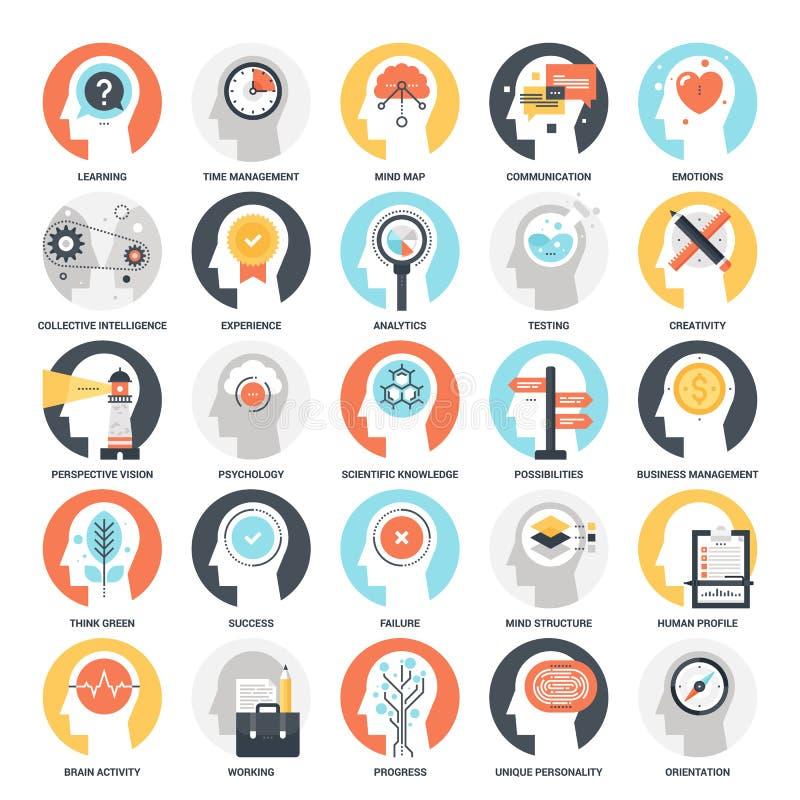 Thinking and Brain Activity royalty free illustration