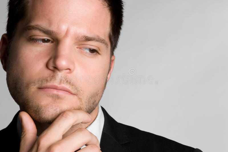 Thinking Business Man Royalty Free Stock Image