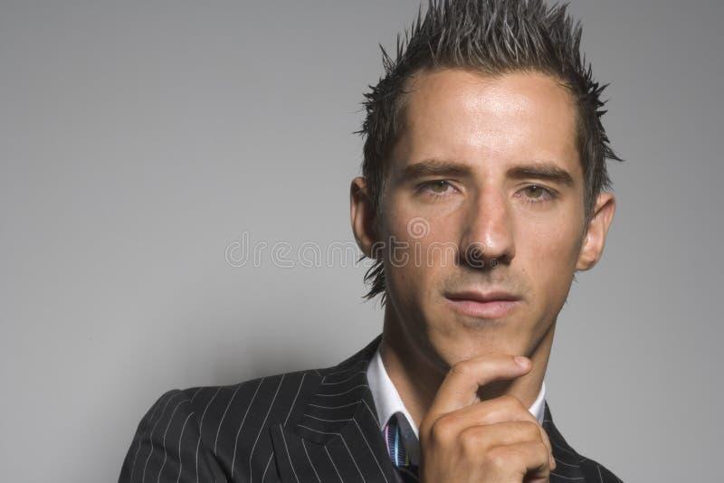 Download Thinking business man stock image. Image of thugg, thuggish - 1677771