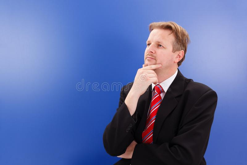 Download Thinking business man stock image. Image of sitting, look - 23358991