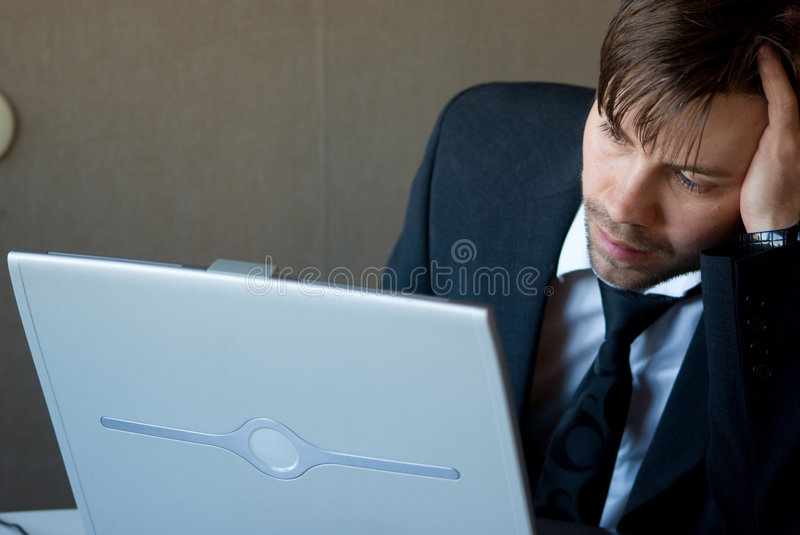 Thinking business man stock photography