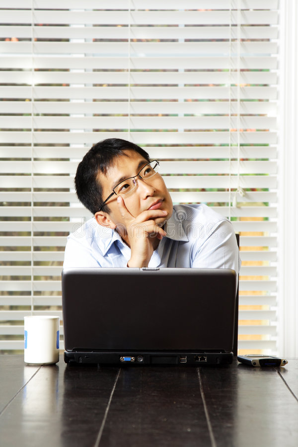 Download Thinking businessman stock image. Image of homeoffice - 2852605