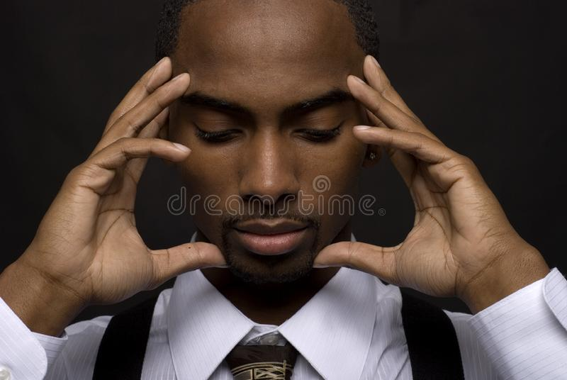 Thinking businessman royalty free stock photography