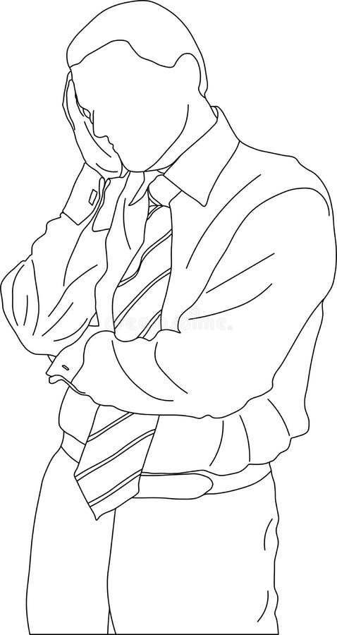 Download Thinking businessman stock vector. Illustration of portrait - 4830350
