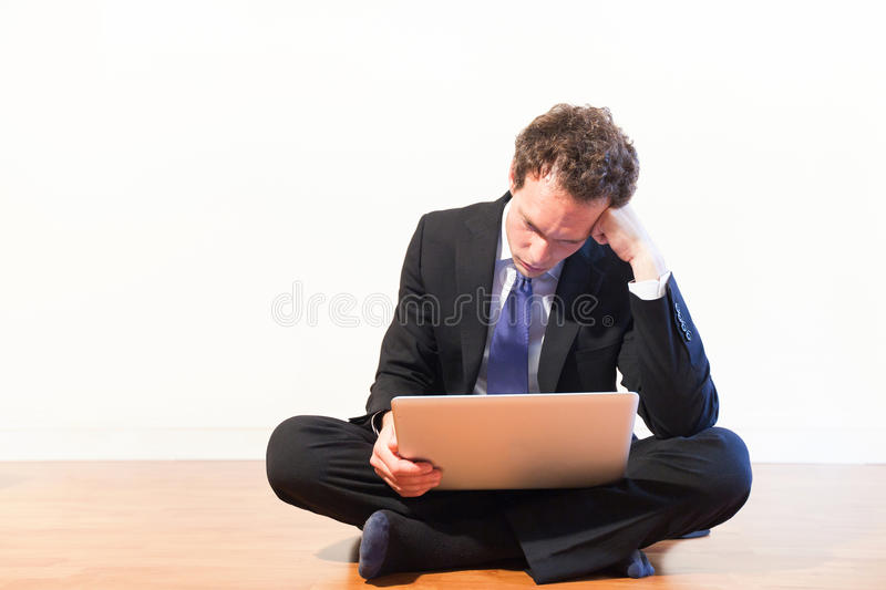 Thinking businessman, development royalty free stock photography