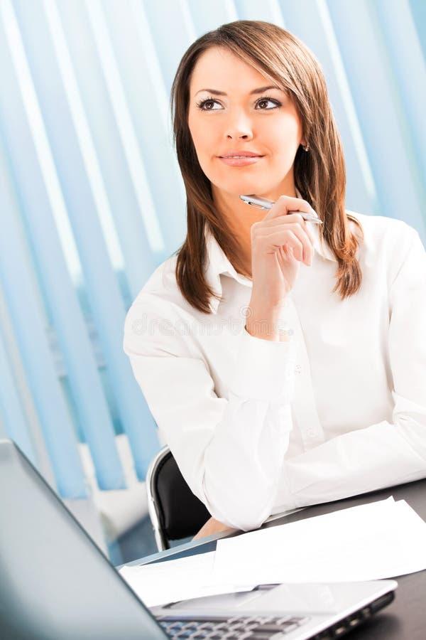 Download Thinking businesswoman stock image. Image of plan, caucasian - 14313227