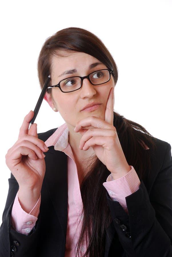 Thinking Businesswoman Stock Photo