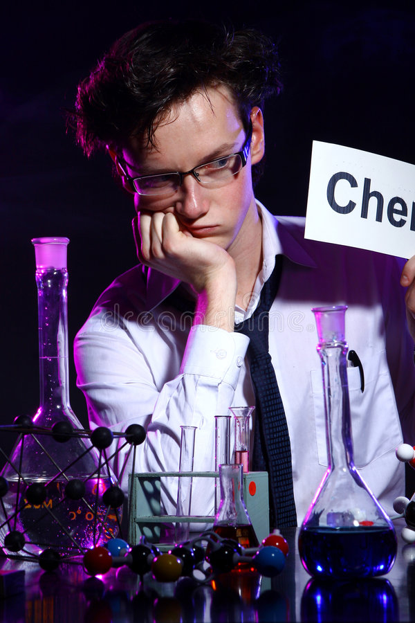 Download Thinking Chemist Royalty Free Stock Image - Image: 7801096