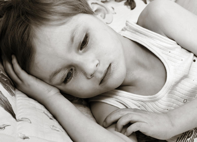 Download Thinking child stock photo. Image of childhood, unhappy - 12012814