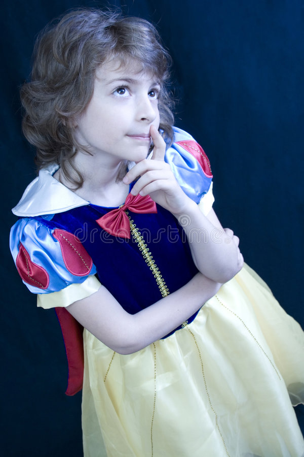 Download Thinking child stock image. Image of sweet, blue, blond - 2596425