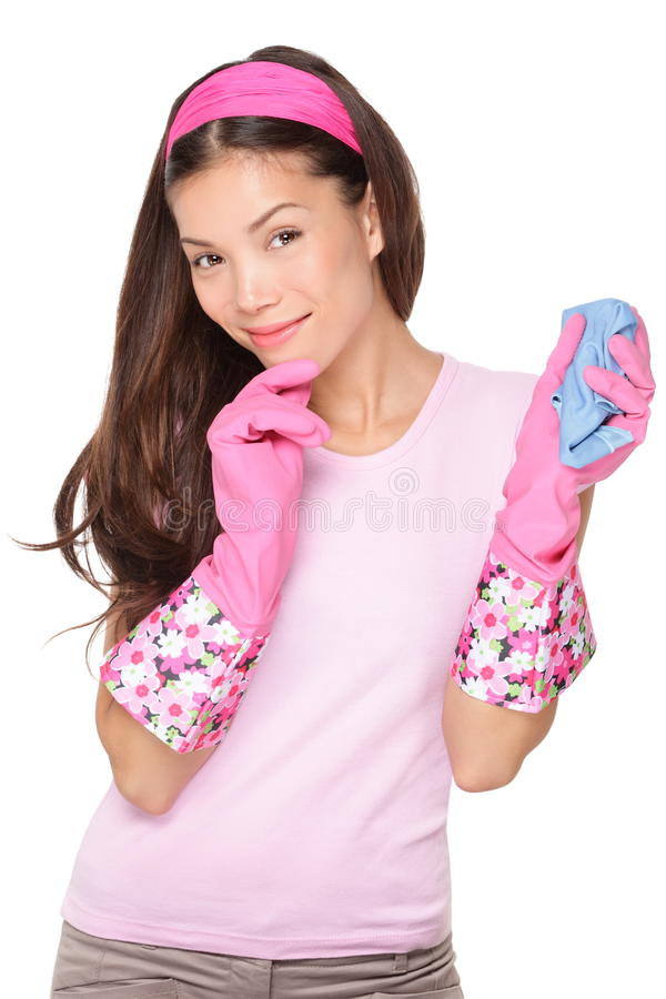 Download Thinking cleaning woman stock image. Image of dishes - 23410067