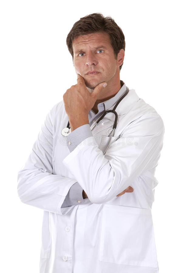 Thinking doctor royalty free stock image