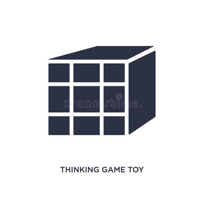 Thinking game toy icon on white background. Simple element illustration from toys concept. Thinking game toy icon. Simple element illustration from toys concept stock illustration