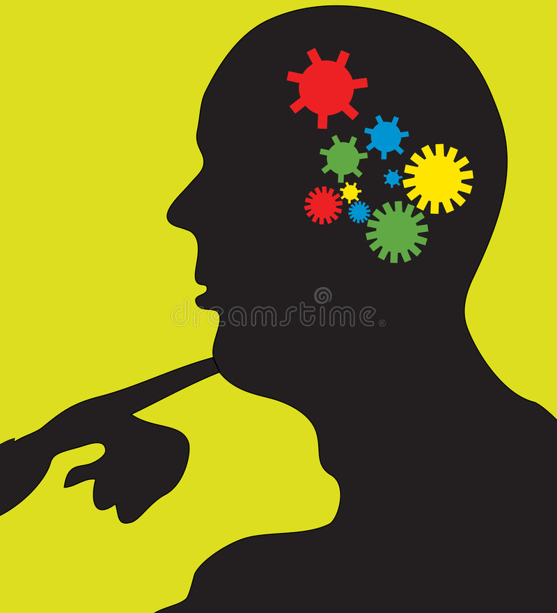 Download Thinking Gears In Motion stock vector. Illustration of clipart - 8156093