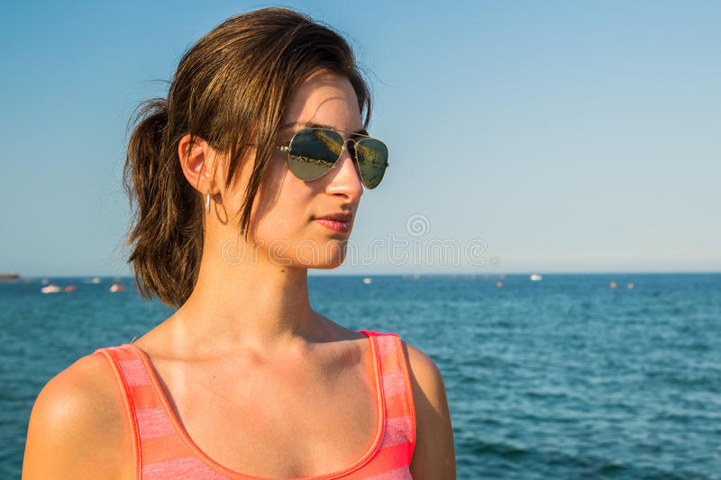 Download Thinking Girl stock image. Image of cloth, earrings, chic - 26104839