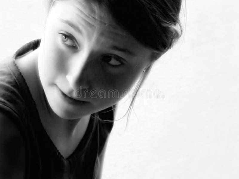 Download Thinking Girl stock image. Image of sixteen, hair, girl - 97157