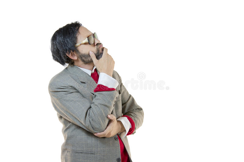 Thinking Good-for-Nothing stock photos