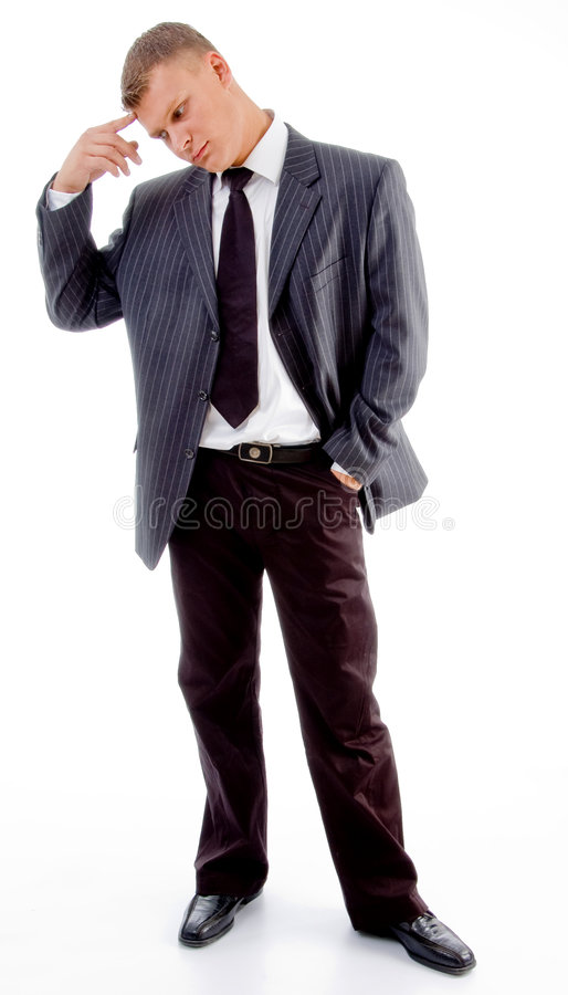 Download Thinking Handsome Executive Stock Photo - Image: 8131550