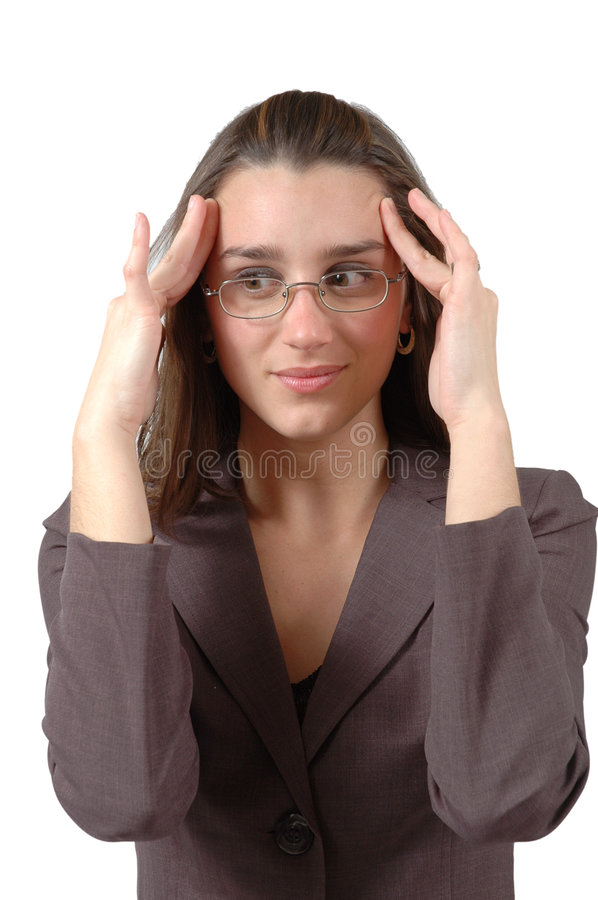 Thinking Hard stock photo