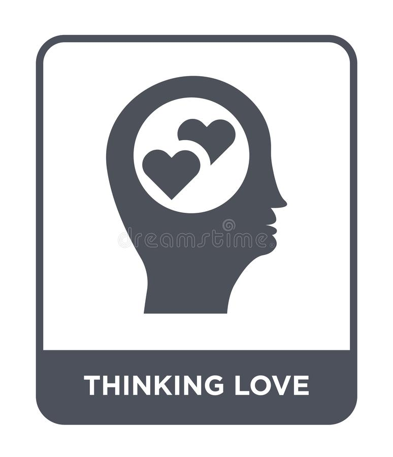 thinking love icon in trendy design style. thinking love icon isolated on white background. thinking love vector icon simple and royalty free illustration