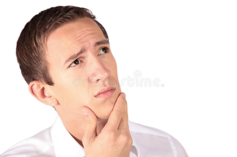 Download Thinking man stock image. Image of deliberate, arbitration - 10975373