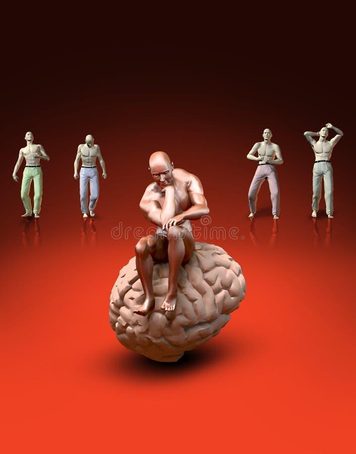 Thinking Man stock illustration
