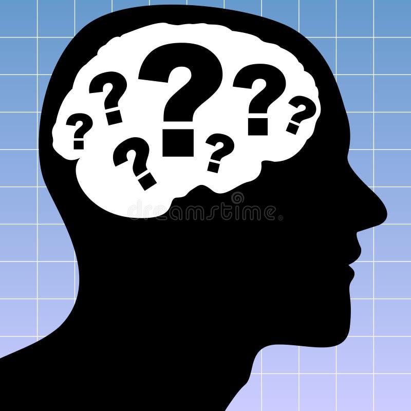 Thinking Man vector illustration