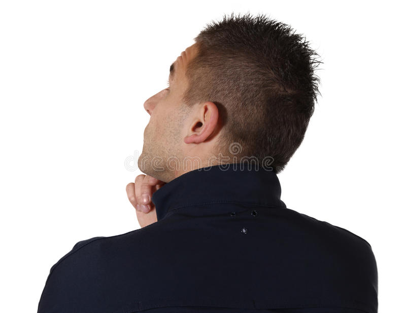 Download Thinking man from behind stock image. Image of closeup - 22606735