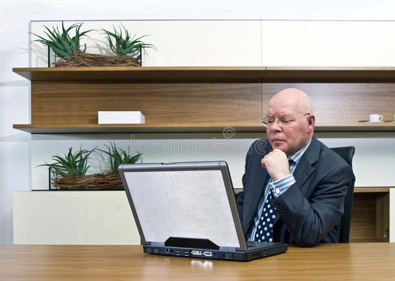 Thinking manager royalty free stock photography