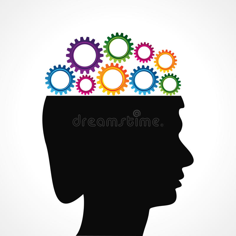 Download Thinking Of Mechanics Concept With Cog Wheel Stock Vector - Image: 34750880