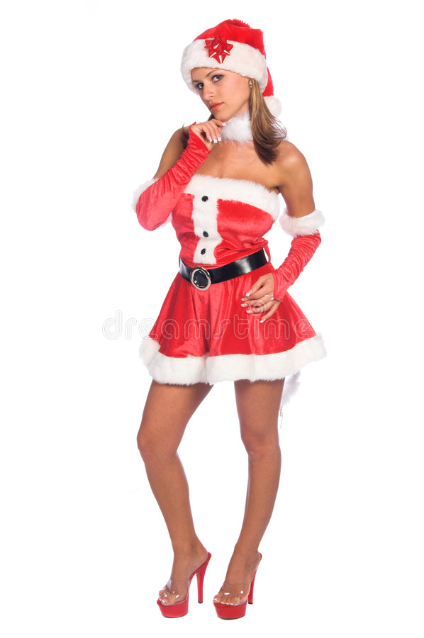 Thinking Mrs Claus royalty free stock photos