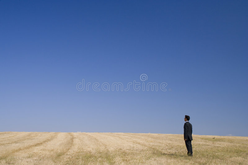 Thinking in nature royalty free stock photo