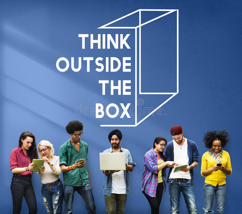 Thinking Out Of The Box Concept royalty free stock photos