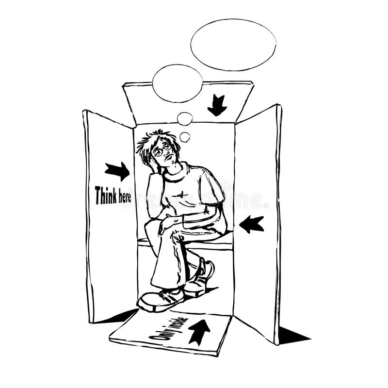 Download Thinking Outside Of The Box Stock Illustration - Illustration: 13534634