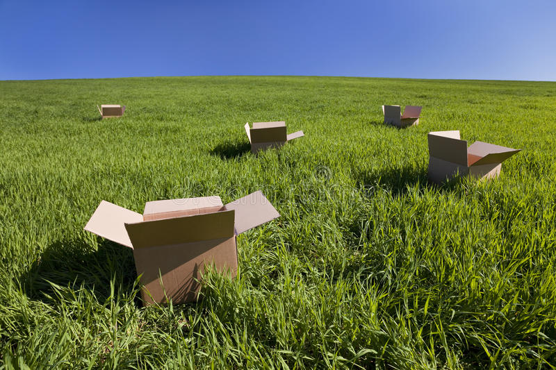 Download Thinking Outside The Box stock image. Image of field, five - 9717953