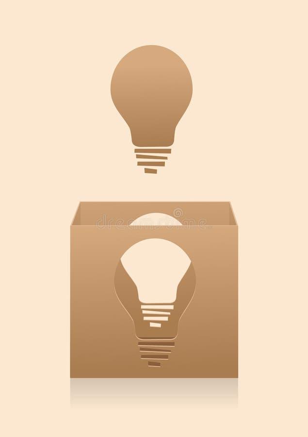 Thinking outside the box. Conceptual illustration of thinking outside the box. Eps10 royalty free illustration