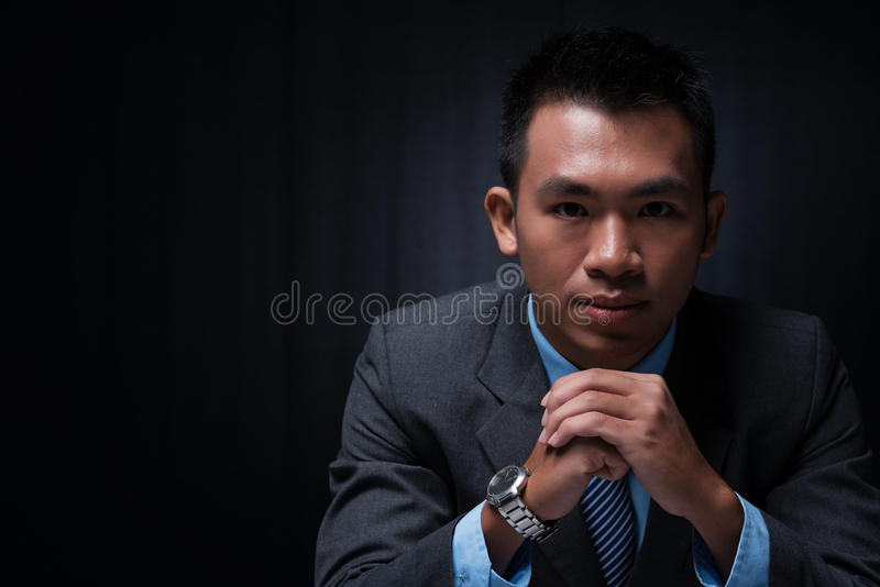 Thinking over the strategy royalty free stock image