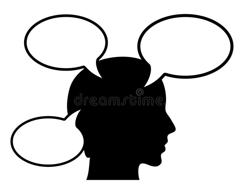 Download Thinking person stock vector. Image of callout, idea - 24255334